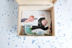 First birthday time capsule box
