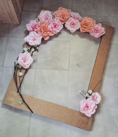 Best 12 Unicorn Selfie Frame Limited Edition This beautiful customized selfie frame is a great addition for your next special event! Perfect for SkillOfKing Com is part of Picture frame decor - Picture Frame Decor, Photo Booth Frame, Flower Picture Frames, Paper Flower Backdrop Wedding, Paper Flowers Diy, Party Frame, Shabby Chic Crafts, Wedding Frames, Diy Frame