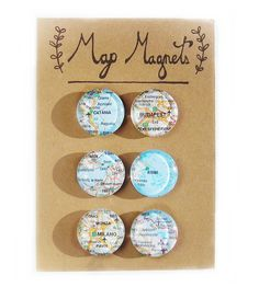 World Cities Map Magnets