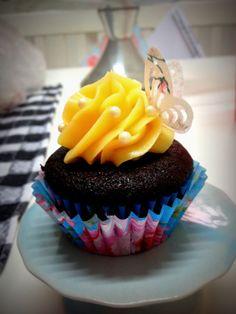 cupcake do chá de bebê Alice
