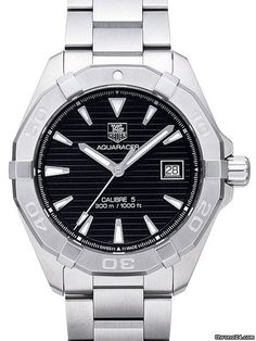 TAG Heuer Aquaracer 300M ad: 1,425 € TAG Heuer Aquaracer Calibre 5 Automatik 40,5mm Ref. No. WAY2110.BA0928; Steel; Automatic; Condition 0 (unworn); Year 2017; New; With box; With