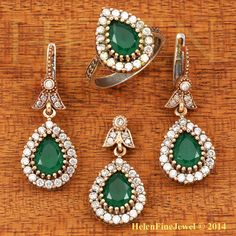 Ottoman Collection Hurrem Sultan Set Tear Drop by helenfinejewels