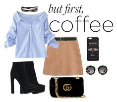 """""""#coffeebreak"""" by timiwg on Polyvore featuring See by Chloé, M&Co, WithChic, Casadei, Kenneth Jay Lane and Gucci"""