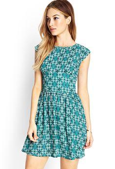 £17.50 Baroque Print Dress - Dresses - 2000067656 - Forever 21 UK
