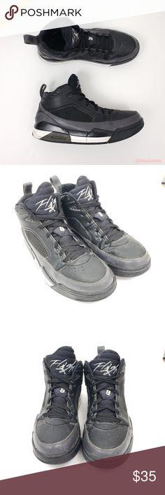 57e835cf9566  Nike  Black Gray Air Jordan Flight 9.5 Sneakers Nike - Black Gray
