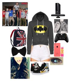 """Video Games with Magcon"" by infinitygangster ❤ liked on Polyvore featuring Vans, Maybelline, claire's, JanSport and Microsoft"