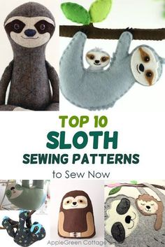 Sloth - top 10 sloth sewing patterns that are trending now. Check out these popular diy sloth ideas and chhose your favorite! Top 10 sloth sewing patterns that are trending now. Check out these popular diy sloth ideas and choose your favorite! Sewing Hacks, Sewing Tutorials, Sewing Tips, Sewing Ideas, Leftover Fabric, Love Sewing, Sewing Projects For Beginners, Diy Projects, Sewing Patterns Free