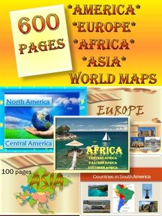 Continents BUNDLE - World Geography -  North America - South America-  Europe - Asia - Africa - World Maps - 600 pages11 products  The zip file contains: 9 products PDF + 2 PowerPoint presentation1.North America- Central America 51 slide PowerPoint presentation ** North America- United States- Canada- Greenland- Mexico** Central America- Belize- Costa Rica- El Salvador- Guatemala- Honduras- Nicaragua- Panama2.