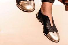 Flache schwarze Oxford Schuhe SALE 45 % OFF von ImeldaShoes