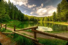Lago della Ninfa (Nymph's Lake) at the slopes of #Cimone Mount, in the #Apennines of #Modena