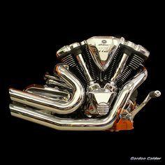 NO 57: YAMAHA STAR RAIDER 113 cu in MOTORCYCLE ENGINE   by Gordon Calder