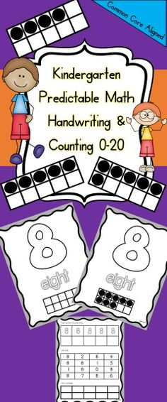 Counting 0-20 Predictable Math Activities...