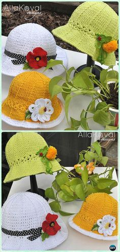 Crochet Garden Party Hat Sun Hat Free Pattern - Crochet Girls Sun Hat Free Patterns