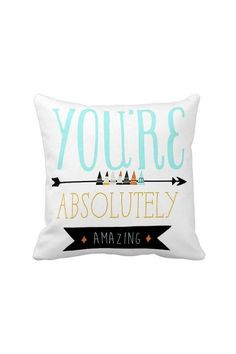 Pillow Cover You're Absolutely Amazing Cotton (pillows for bed apartment therapy) Apt Ideas, Twin Girls, Big Girl Rooms, Sister Wedding, Pillow Talk, My New Room, Home Living Room, Custom Pillows, Home Deco