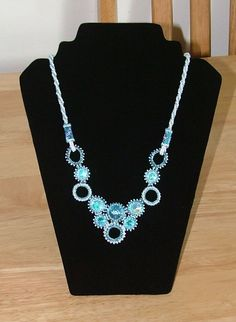 my first embezelment necklace, it took me 3 weeks, but it looks and wears lovely. I am just doing my 3rd embezelment so will have some pictures later