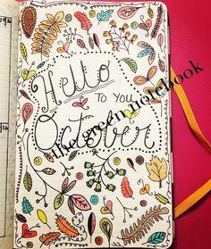"the green notebook: Bullet Journal: October ""Dashboard"" Page (2016) #bulletjournal #thegreennotebook #bujo #journal #journaling #ideas #october #fall #layouts #autumn"