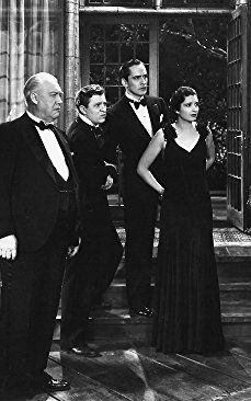 George Barbier, Stuart Erwin, Kay Francis, and Fredric March in Strangers in Love (1932)