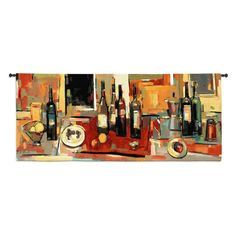 Fine Art Tapestries Vin Rouge Panel Wall Tapestry - 2193-WH
