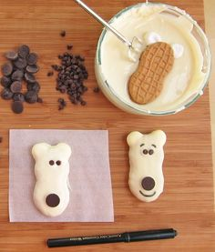 Hungry Happenings: Sweet Treat for Winter - Nutter Butter Polar Bear Cookies