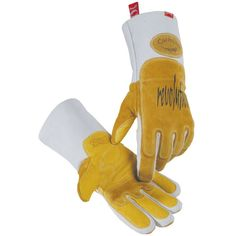 1812 - Caiman Welding Gloves - MIG / Stick, Pig Grain - Double layered protection features lean-On and Heat-Shield Reinforcements on the left hand - Insulated with FR (flame resistant) cotton fleece i Welding Classes, Welding Jobs, Welding Projects, Welding Ideas, Metal Projects, Welding Crafts, Shielded Metal Arc Welding, Metal Welding, Welding Art
