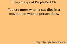 Things Crazy Cat People Do - Always!