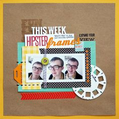 Hipster Frames by Emily Pitts - could make the viewmaster wheel by cutting a circle and punching small squares out of it then adding notches