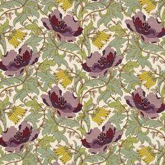 art deco fabric | ... Curtain Fabrics :: Prints & Checks :: Art Deco Curtain Fabric Amethyst