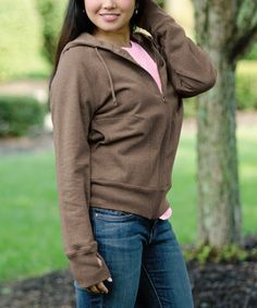 Take a look at this Camel Zip-Up Hoodie by Repair the World® on #zulily today!