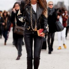 Leather, leather, leather.