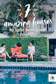 Planning a trip with friends? These are the perfect places for a group getaway. Pool Lounge, Girls Getaway, Roof Deck, Weekends Away, Home And Away, Long Weekend, Weekend Getaways, Perfect Place, Activities
