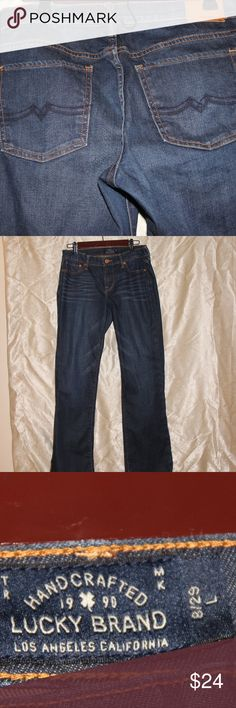 "Lucky Brand Jeans Size 8, 29in Long Inseam: 33""  Dark Wash Lucky Brand Jeans Like New- Only worn Once Size 8 / 29 (L) Lucky Brand Jeans"