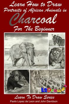 Learn How to Draw Portraits of African Animals in Charcoal For the Beginner Learn To Draw Books, Different Feelings, African Animals, Light Table, Step By Step Instructions, Animal Drawings, Pet Portraits, Graphite, Have Fun