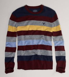 AE Striped Crew Sweater....love this striped sweater!  Excited for crisp days to wear light sweaters.