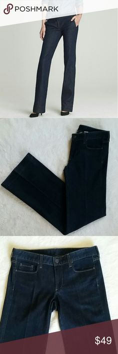 """J.Crew Trouser Jeans J. Crew Classic Trouser Jeans. Size Tall 4. Slight sign of wear only on the bottom back part of hems but other than that they're like new. Waist is 16"""" flat and Inseam is 35"""". J. Crew Jeans Flare & Wide Leg"""