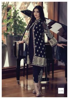 Maria B Mbroidered Eid ul Azha Suits 2015 for Women (2)