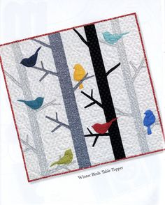 Sewing Quilts - Love This : Table Please TWO sewing pattern Book by Nancy Halvorsen Art to Heart Applique Patterns, Applique Quilts, Quilt Patterns, Bird Applique, Bird Patterns, Heart Patterns, Quilt Baby, Small Quilts, Mini Quilts