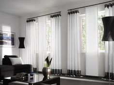 40 curtains ideas as decoration for small apartments, Grey Walls Living Room, Cozy Living Rooms, Living Room Decor, Living Area, Create Your House, Bedroom Floor Plans, Curtain Designs, Contemporary Bedroom, Living Room Inspiration