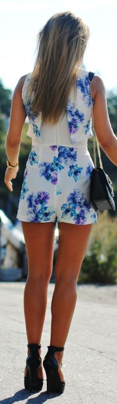 Miss Selfridge White Floral Romper by