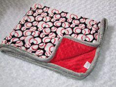 NEW+Baseball+Minky+Blanket+Or+Basketball+by+tarascozycreations,+$40.00