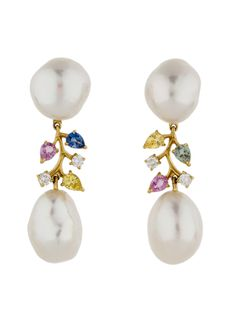 Schoeffel Pearl, Sapphire and Diamond Earrings - Jewelry - FJE22371 | The RealReal