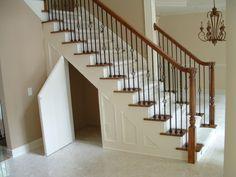 49 Ideas Secret Door Under Stairs Storage For 2019 Door Under Stairs, Space Under Stairs, Under Stairs Cupboard, Basement Stairs, House Stairs, Under Staircase Ideas, Walkout Basement, Kids Basement, Stairway Storage
