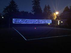 Light Up Volleyball Net & Boundary Lines Volleyball Court Backyard, Outdoor Volleyball Net, Volleyball Party, Volleyball Drills, Backyard Sports, Diy Yard Games, Backyard Games, Volleyball Equipment, Sleepover Activities