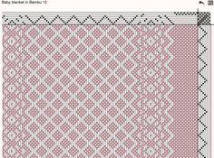 Resultado de imagen de weaving drafts for 8 shaft looms Weaving Designs, Weaving Projects, Weaving Patterns, Textile Patterns, Stitch Patterns, Knitting Patterns, Willow Weaving, Basket Weaving, Dobby Weave