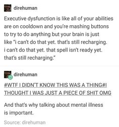 It's exactly like this. My brain has some time in mind when it's ready and I have no idea when that Adhd Brain, My Brain, The More You Know, Good To Know, Mental Disorders, Mental Health Awareness, Mindfulness, Mood, Motivation