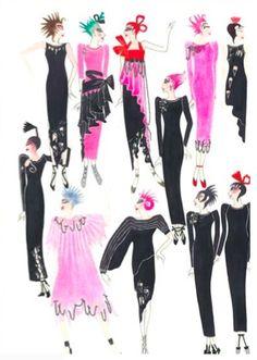 Conceptual Chic -Zandra Rhodes collection sketches