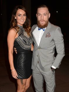 beautiful power couple, beautiful Dee Devlin w/ large bearded Conor McGregor : if you love #MMA, you'll love the #UFC & #MixedMartialArts inspired fashion at CageCult: http://cagecult.com/mma