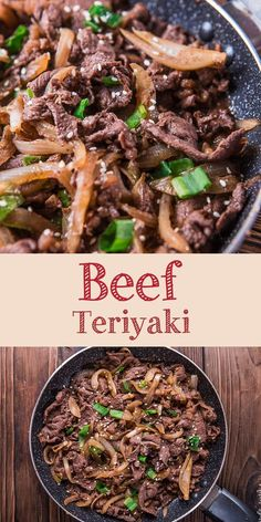 beef dishes Beef teriyaki is a quick and easy Japanese cuisine famous around the world. Savory and umami beef dishes that require few ingredients. Sliced Beef Recipes, Meat Recipes, Asian Recipes, Chicken Recipes, Cooking Recipes, Healthy Recipes, Easy Beef Recipes, Dinner Recipes, Beef Dishes