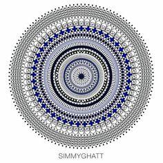 Moroccan Mandala - Buddha by Simmy Ghatt