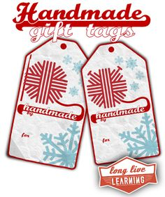 Free Printable Handmade Gift Tags for Crochet & Knit Gifts! Super Cute tags.