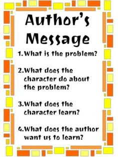Determining the author's central message   Teacher's Notebook Blog